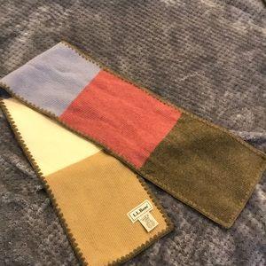 EC LL bean wool color block scarf